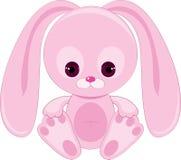 bunny ρόδινος λυπημένος Στοκ φωτογραφία με δικαίωμα ελεύθερης χρήσης