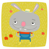 Bunny της Farmer Στοκ εικόνα με δικαίωμα ελεύθερης χρήσης