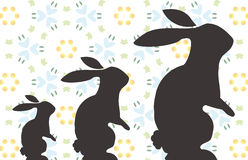 Bunny. Three Easter Bunny silhouettes - different sizes - additional ai and eps format available on request Stock Image