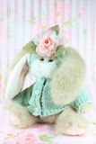 Bunny. A vertical picture of a stuffed toy bunny with Spring colors Royalty Free Stock Images