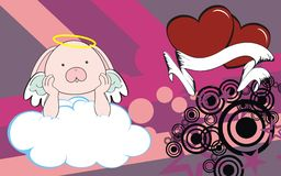 Bunny angel cherub baby cartoon cloud background Royalty Free Stock Photography
