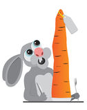 Bunny animals carrot Stock Photos
