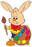 Bunny Artist (vector clip-art). Vector clip-art / children's illustration for your design