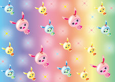 Bunny_Babies_wallpaper Stockfoto