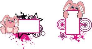 Bunny baby cartoon copyspace. In vector format royalty free illustration