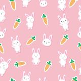 Bunny Background senza cuciture sveglio Fotografie Stock Libere da Diritti