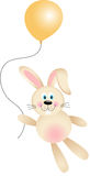Bunny with Balloon Flying Royalty Free Stock Photo