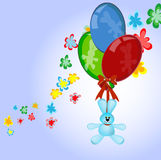 Bunny with balloons Royalty Free Stock Images