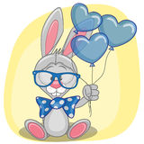 Bunny with balloons Stock Photos