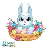Bunny in a basket. Royalty Free Stock Photography