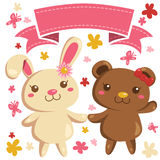 Bunny and Bear Royalty Free Stock Image