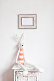Bunny on the bedside table Stock Image