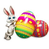 Bunny with big egg Royalty Free Stock Photo