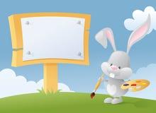 Bunny Billboard royaltyfri illustrationer