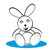 Bunny in black & white stock image