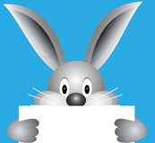 Bunny with blank sheet Royalty Free Stock Images