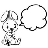 Bunny bubble black stock illustration