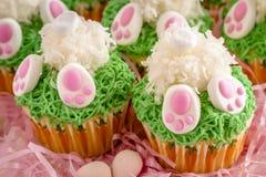 Bunny butt lemon cupcakes Easter treat Royalty Free Stock Photos
