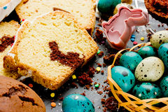 Bunny cake for Easter Stock Photo