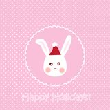 Bunny card Royalty Free Stock Photo