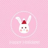 Bunny Card Royalty Free Stock Photo
