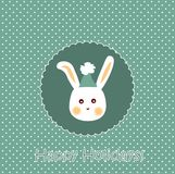 Bunny card Royalty Free Stock Photos