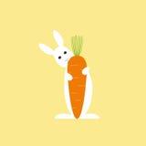 Bunny and carrot Stock Photos
