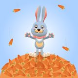Bunny with carrots Royalty Free Stock Images