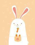 Bunny with carrots Royalty Free Stock Photography