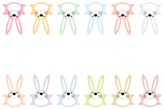 Bunny cartoon animal characters background. Bunny cartoon animal characters on white background design for easter and card Stock Photos