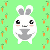 Bunny cartoon character Stock Image