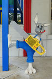 Bunny with a Chain Saw at LEGOLAND Florida Royalty Free Stock Images
