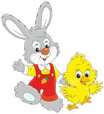 Bunny and Chick Stock Images