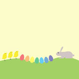 Bunny, chickens and eggs Royalty Free Stock Photos