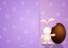 Bunny with chocolate egg Stock Photo