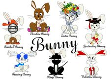 Bunny Collection Arkivbild