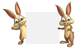 Bunny collection with white board. 3d rendered illustration of Bunny collection with white board Stock Image