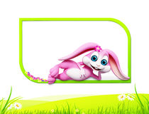 Bunny with colouring egg Stock Photography