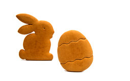 Bunny cookies isolated Stock Images