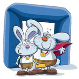 Bunny Couple Win Competition Fotos de archivo libres de regalías