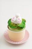 bunny cupcake Πάσχα Στοκ εικόνες με δικαίωμα ελεύθερης χρήσης