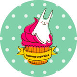 Bunny cupcake Royalty Free Stock Photography