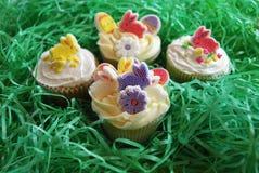 bunny cupcakes Πάσχα Στοκ εικόνες με δικαίωμα ελεύθερης χρήσης
