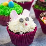 bunny cupcakes Πάσχα Στοκ Φωτογραφίες