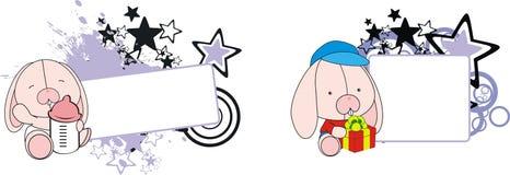 Bunny cute baby cartoon copyspace Royalty Free Stock Photo