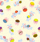 Bunny Day Pattern Stock Photos