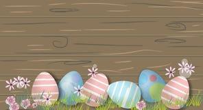 Bunny With Decorated Eggs Fondo de la primavera y de Pascua imagen de archivo