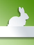 Bunny design over green background Stock Photo