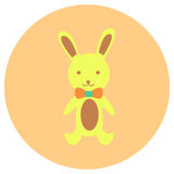 Bunny doll cute icon in trendy flat style isolated on color background. Baby symbol for your design, logo, UI. Vector illustration Stock Photos