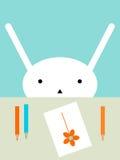 Bunny drawing Stock Photo